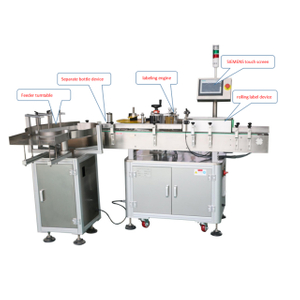Round Bottle Labeling Machine with PLC screen
